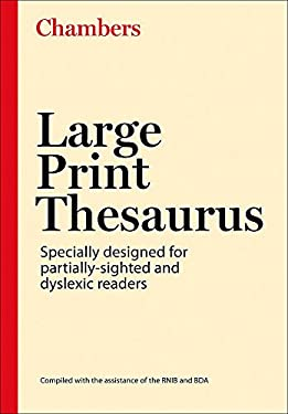 Chambers Large Print Thesaurus 9780550101655