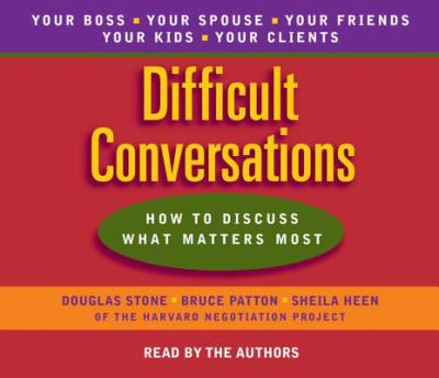 Difficult Conversations 9780553456127