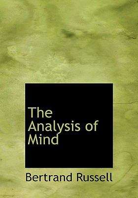 The Analysis of Mind 9780554288079
