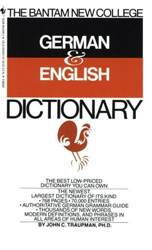 The Bantam New College German & English Dictionary 9780553280883