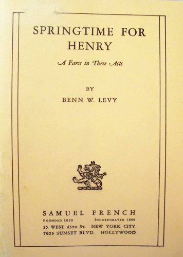 Springtime for Henry 9780573615740