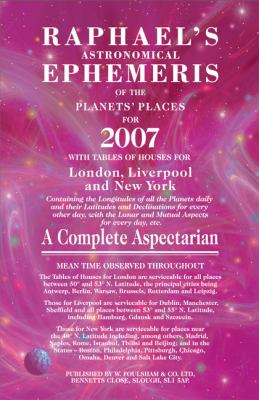 Raphael's Astronomical Ephemeris 9780572031824