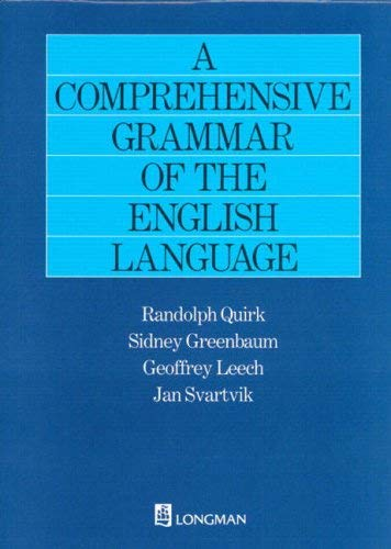 A Comprehensive Grammar of the English Language 9780582517349