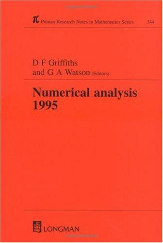 Numerical Analysis 1995 9780582276338