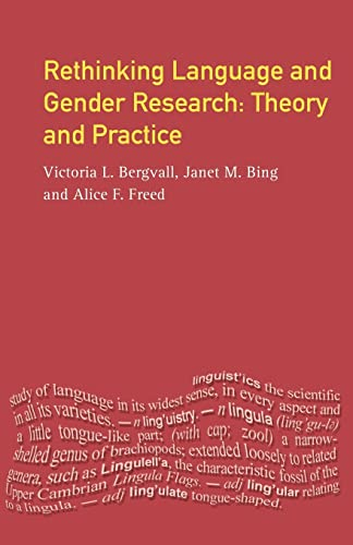Rethinking Language and Gender Research: Theory and Practice 9780582265738
