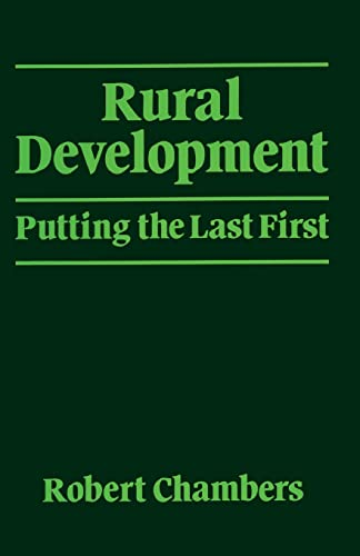 Rural Development: Putting the Last First 9780582644434