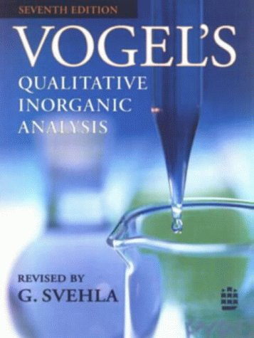 Vogel's Qualitative Inorganic Analysis 9780582218666