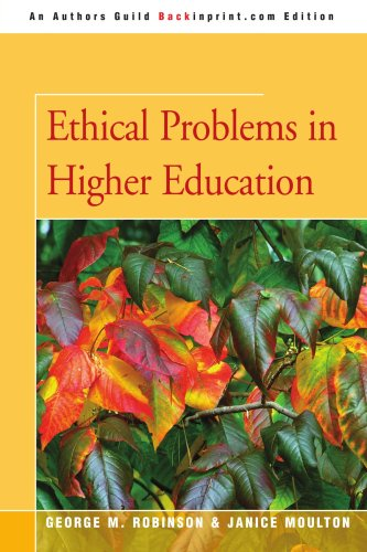 Ethical Problems in Higher Education 9780595365920