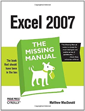 Excel 2007: The Missing Manual 9780596527594