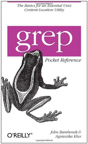 Grep Pocket Reference 9780596153601