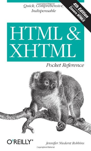 HTML and XHTML Pocket Reference 9780596805869