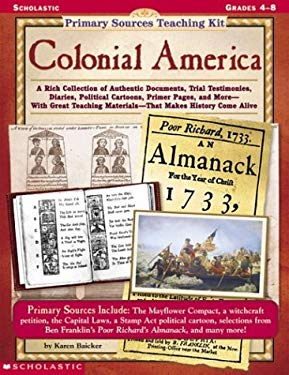 Primary Sources Teaching Kit: Colonial America 9780590378475