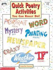 Quick Poetry Activities: You Can Really Do!