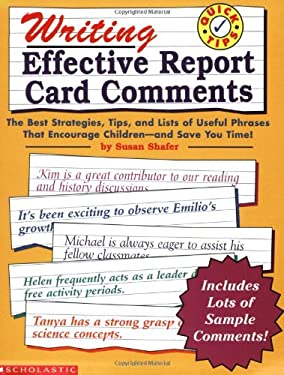 Quick Tips, Writing Effective Report Card Comments 9780590068826