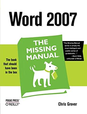 Word 2007: The Missing Manual 9780596527396