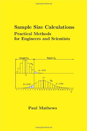Sample Size Calculations: Practical Methods for Engineers and Scientists 9780615324616