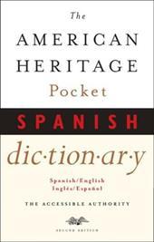 The American Heritage Pocket Spanish Dictionary Spanish English English Spanish