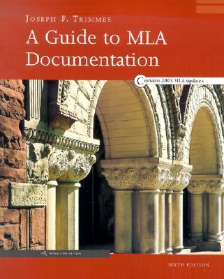 A Guide to MLA Documentation: With an Appendix on APA Style 9780618338054