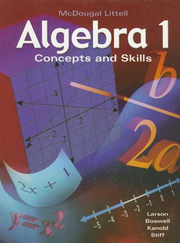 Algebra 1: Concepts and Skills 9780618374205