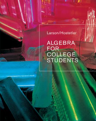 Algebra for College Students 9780618388455