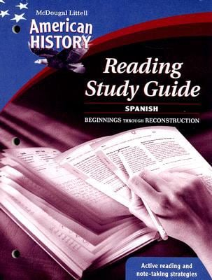 American History Reading Study Guide: Beginnings Through Reconstruction
