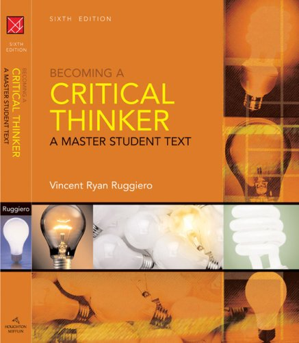Becoming a Critical Thinker 9780618969609