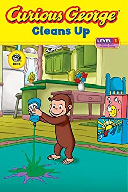 Curious George Cleans Up: Level 1: Curious about Technology 9780618737598