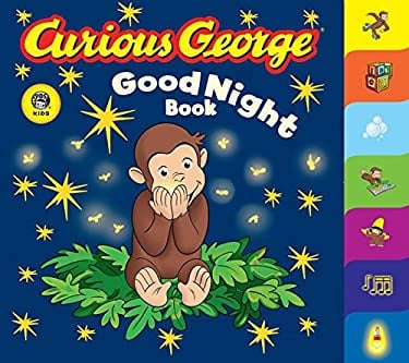 Curious George Good Night Book: A Tabbed Board Book 9780618777112