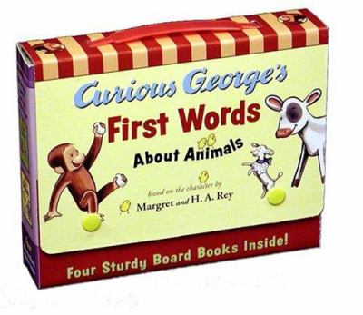 Curious George's First Words about Animals 9780618494989