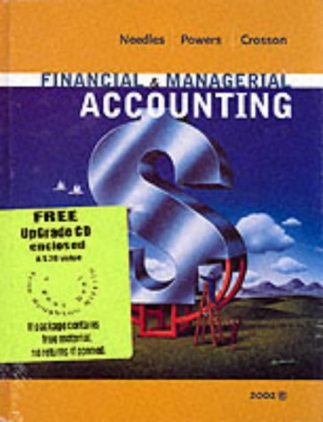 Financial and Managerial Accounting with Student CD 6th Edition 9780618145300
