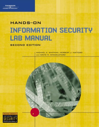 Hands-On Information Security Lab Manual 9780619216313
