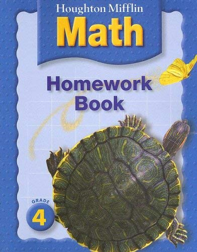 Houghton Mifflin Math Homework Book: Grade 4 9780618438020