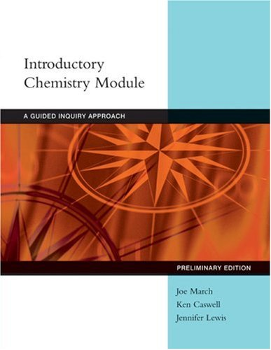 Introductory Chemistry Modules: A Guided-Inquiry Approach 9780618854783