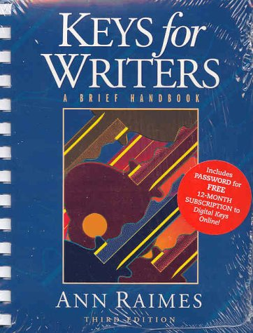 Keys for Writers: A Brief Handbook 9780618192076