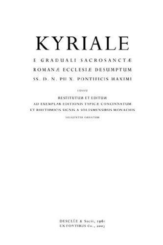 Kyriale Romanum (1961) 9780615146348