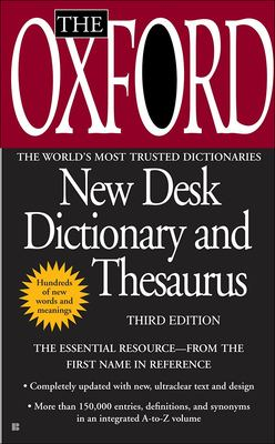 The Oxford American Desk Dictionary and Thesaurus, Third Edition 9780613368599