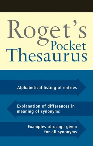 Roget's Pocket Thesaurus 9780618378074