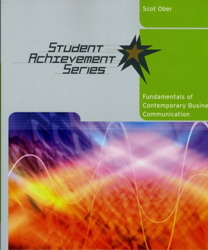 Student Achievement Series: Fundamentals of Contemporary Business Communication 9780618900930