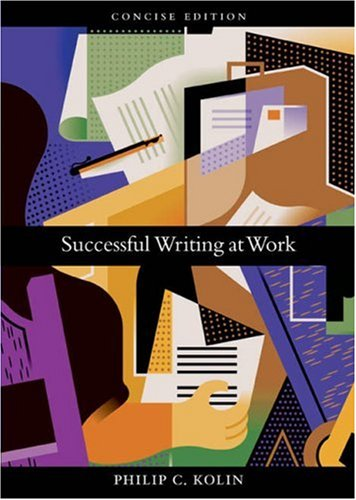 Successful Writing at Work Concise Edition 9780618481118