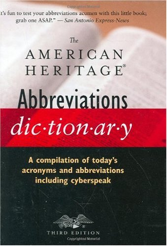 The American Heritage Abbreviations Dictionary 9780618621231