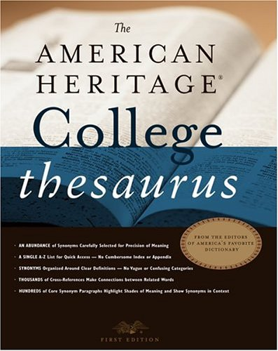 The American Heritage College Thesaurus 9780618402199
