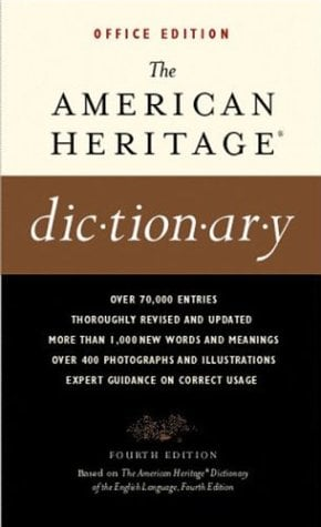 The American Heritage Dictionaries, 4th Edition, OFFICE Edition 9780618077069