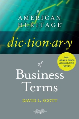 The American Heritage Dictionary of Business Terms 9780618755257