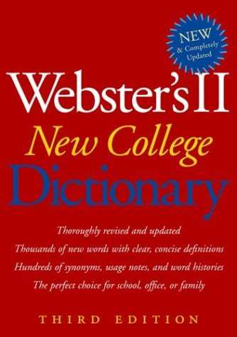 Webster's II New College Dictionary 9780618396016