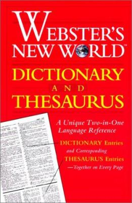 Webster's New World Dictionary and Thesaurus 9780613015974