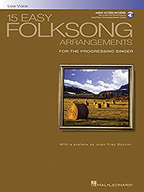 15 Easy Folksong Arrangements for the Progressing Singer [With CD (Audio)] 9780634077289