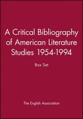 A Critical Bibliography of American Literature Studies 1954-1994: Box Set