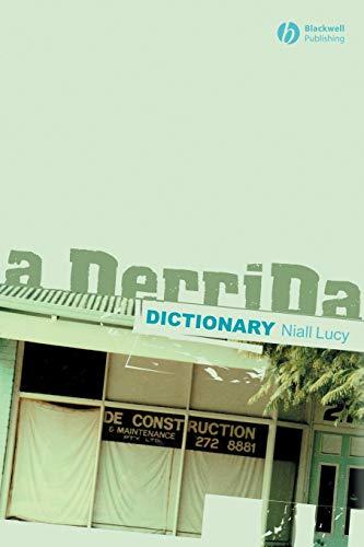 A Derrida Dictionary 9780631218432