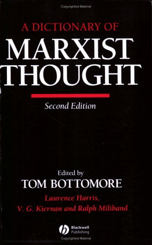 A Dictionary of Marxist Thought 9780631180821