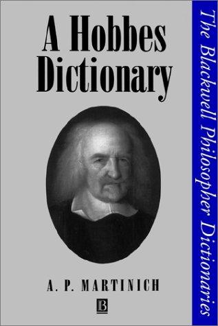 A Hobbes Dictionary 9780631192626